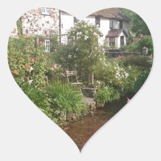 Dorset Cottage, England Heart Sticker