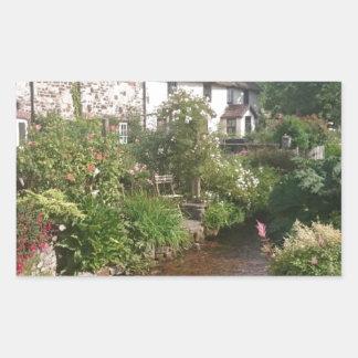 Dorset Cottage, England Rectangular Sticker