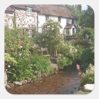 Dorset Cottage, England Square Sticker