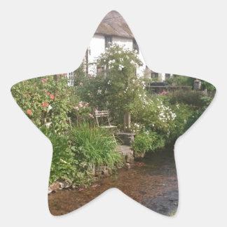 Dorset Cottage, England Star Sticker