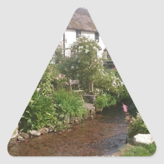 Dorset Cottage, England Triangle Sticker