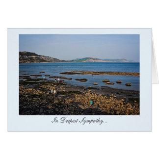 Dorset Fossil Beach, In Deepest Sympathy Card