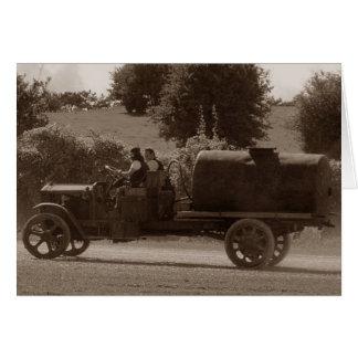 Dorset Steam Fair Vintage American Water Tanker Card