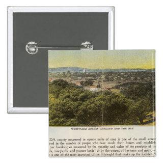 Dorso el condado de Alameda, Oakland y la bahía Pins