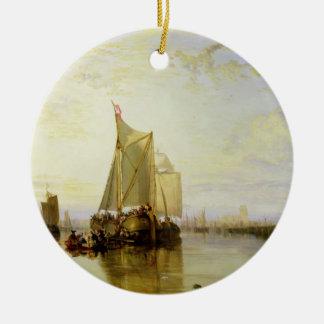 Dort or Dordrecht: The Dort Packet-Boat from Rotte Ceramic Ornament