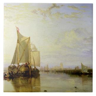 Dort or Dordrecht: The Dort Packet-Boat from Rotte Ceramic Tile