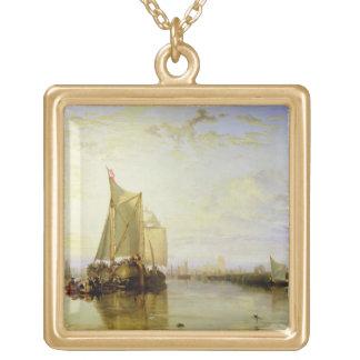 Dort or Dordrecht: The Dort Packet-Boat from Rotte Gold Plated Necklace