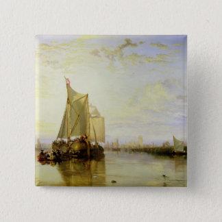 Dort or Dordrecht: The Dort Packet-Boat from Rotte Pinback Button