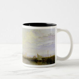 Dort or Dordrecht: The Dort Packet-Boat from Rotte Two-Tone Coffee Mug