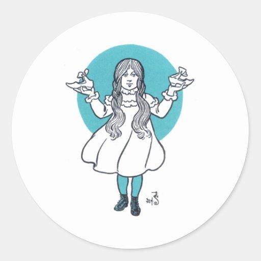 Dorthy Round Sticker