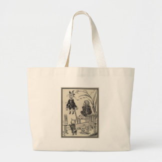 Dorthy, Scarecrow And Toto Large Tote Bag