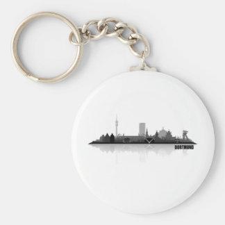 Dortmund City horizonte Llavero Redondo Tipo Pin