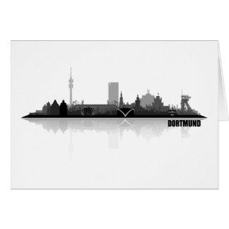 Dortmund City horizonte Tarjeta De Felicitación