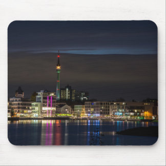Dortmund, Germany skyline night Mouse Pad