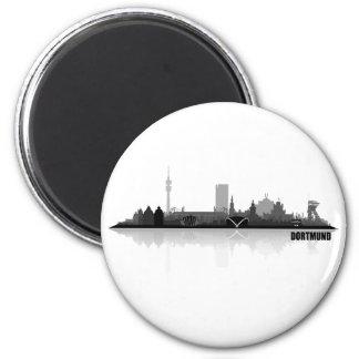 Dortmund town center of skyline 2 inch round magnet