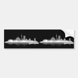Dortmund town center of skyline autostickers bumper sticker