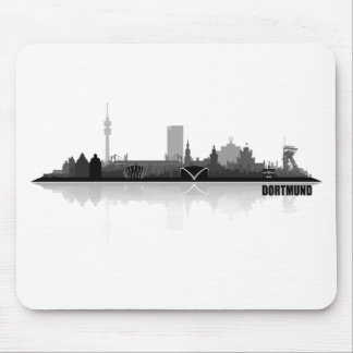 Dortmund town center of skyline mouse pad
