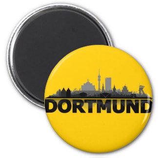 Dortmund town center of skyline - refrigerator 2 inch round magnet