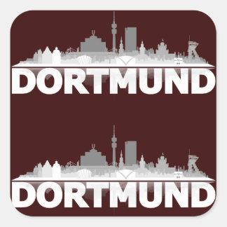 Dortmund town center of skyline square sticker