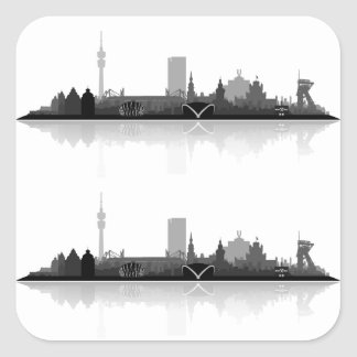 Dortmund town center of skyline stickers