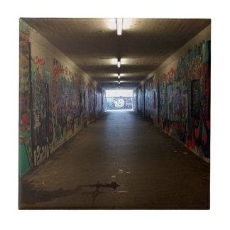 Dortmund underground graffiti at the station ceramic tile