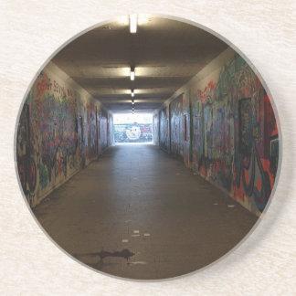 Dortmund underground graffiti at the station coaster
