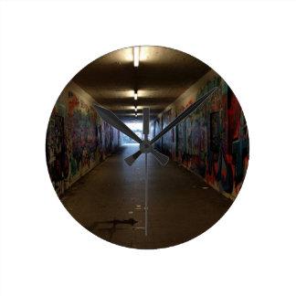 Dortmund underground graffiti at the station round clock