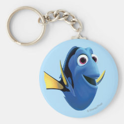 Basic Button Keychain with Cute Dory of Finding Nemo design
