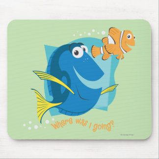 Dory  and Nemo - Where Was I Going? Mouse Pad