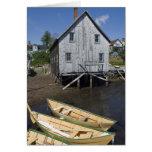 Dory builder,Lunenburg, Nova Scotia, Canada Card