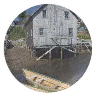 Dory builder,Lunenburg, Nova Scotia, Canada Party Plates