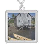 Dory builder,Lunenburg, Nova Scotia, Canada Square Pendant Necklace