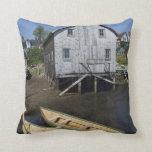 Dory builder,Lunenburg, Nova Scotia, Canada Throw Pillow