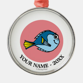 Dory | Cartoon Image Add Your Name Metal Ornament
