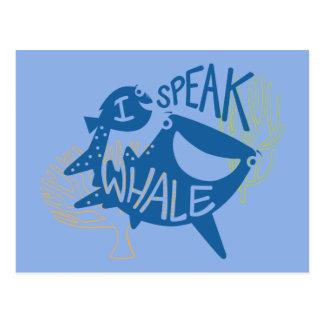 Dory & Destiny   I Speak Whale Postcard