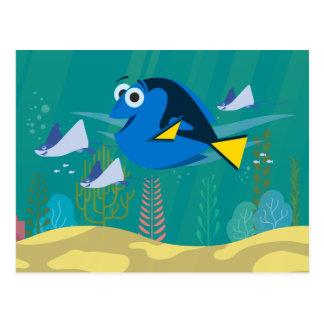 Dory el   un viaje debajo del mar tarjetas postales