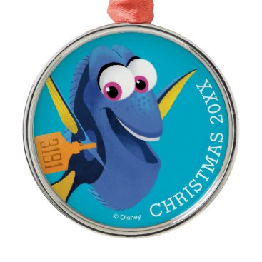 Disney Themed Dory | Finding Who Metal Ornament