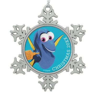Disney Themed Dory | Finding Who Snowflake Pewter Christmas Ornament