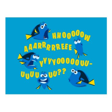 Disney Themed Dory | How Are You? Postcard