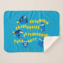 Dory | How Are You? Sherpa Blanket