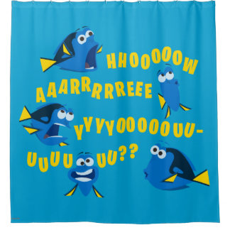 Dory | How Are You? Shower Curtain