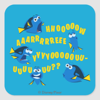Dory | How Are You? Square Sticker