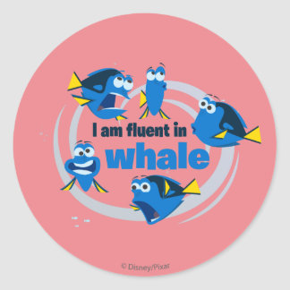 Dory | I am Fluent in Whale Classic Round Sticker