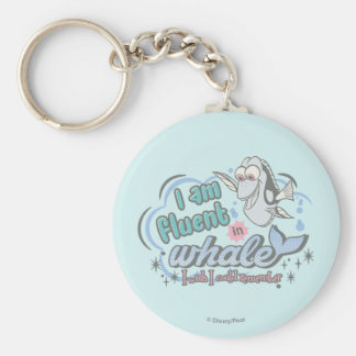 Dory   I am Fluent in Whale Comic Keychain