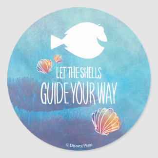 Dory | Let the Shells Guide Your Way Classic Round Sticker