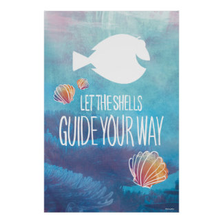 Dory | Let the Shells Guide Your Way Poster