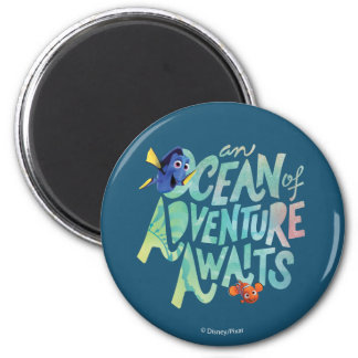 Dory & Nemo | An Ocean of Adventure Awaits 2 Inch Round Magnet