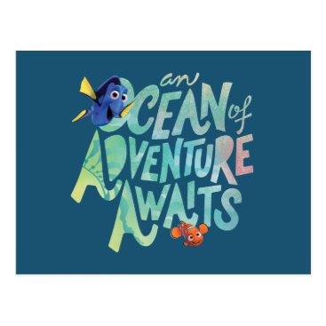 Disney Themed Dory & Nemo | An Ocean of Adventure Awaits Postcard