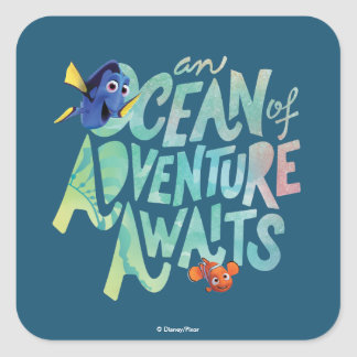 Dory & Nemo | An Ocean of Adventure Awaits Square Sticker