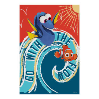 Dory & Nemo   Go with the Flow Poster